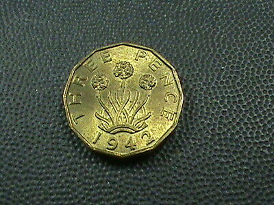 GREAT BRITAIN   3 pence    1942    BRILLIANT  UNCIRCULATED