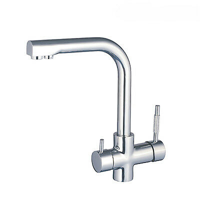 Three 3 Way Faucet Kitchen Mixer Tap and Pure Water Filter