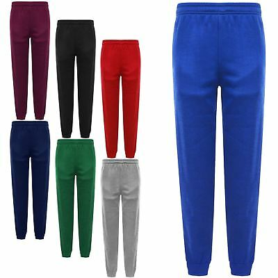 Girls Boys School Jogging Bottoms Tracksuit Sweat Pants Pe Sports Trousers 3-16