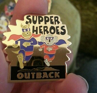 Super Heroes Outback Steakhouse hat lapel pin