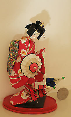 Traditional Japanese Display Umbrella Doll 21Cm Gc