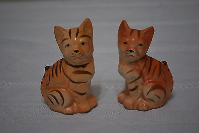 Orange Tabby Cat 3 1/4  inches tall  Salt & Pepper Shakers
