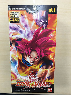F/S IC Carddass Dragon Ball BT01 Vol.1 Booster Pack Box Bandai New  from Japan