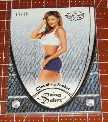 2015 Benchwarmer CLAUDIA JORDAN Daizy Dukez #48 Gold Variant/20 Deal or No Deal