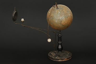 Antique Tellurion, earth-moon-orrery, Jan Felkl 1921, tellurian globe, Tellurium