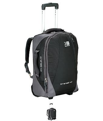 SALDI Karrimor Transit Wheel Suitcase Black