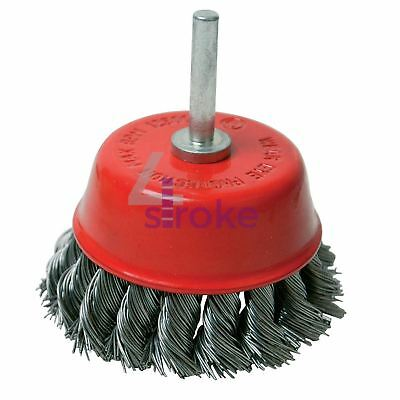 Rotary Steel Twisht Knot Wire Cup Brush 75mm Grinding Wire Cups