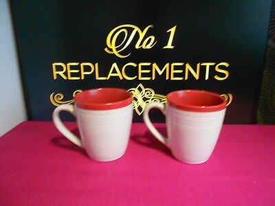 "2 X Denby Intro Red Tea Coffee Mugs / Beakers 4"" Brand New Last Set Available"
