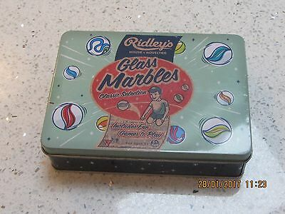 Vintage Style Ridley's House of NoveltiesTin of Glass Marbles UNOPENED /SEALED