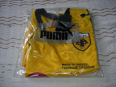 Puma A.e.k Athens Home Shirt Yellow Size M - New With Tags