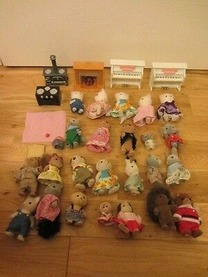 24 Sylvanian Families Bear Figures & House Furniture Job Lot Cats Meerkat Dog +