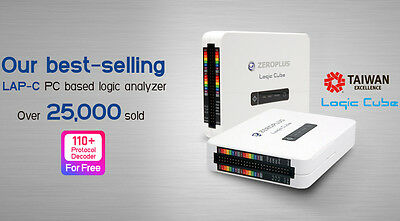 Zeroplus Logic Cube LAP-C (16128) USB logic analyzer, 16 channels,128 kb/channel