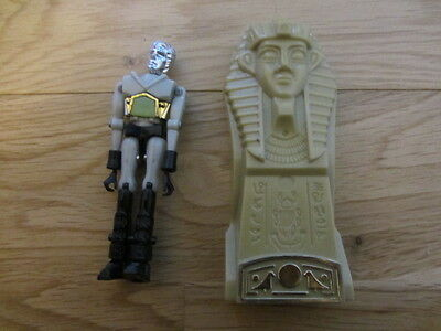 "Vintage Mego Micronauts Grey Pharoid 4"" Action Figure With Time Travel Chamber"