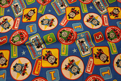 PUL Thomas the Tank engine 100% Cotton fabric for nappies & wetbags 87x110cm