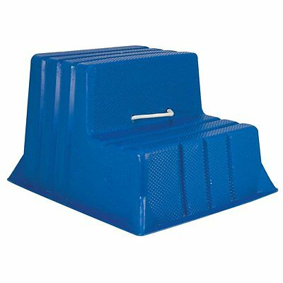 Stubbs Mountie Portable Step Mounting Block Blue - Equestrian / Horse