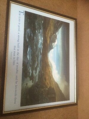 """Wooden Picture Frame with Religious Prayer 15"""" x 12"""""""