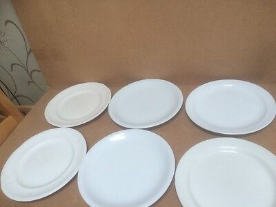 """6x Mixed Lot Hotelware 10"""" Dinner Plates Restaurant Catering Cafe"""