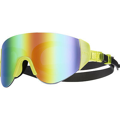 New TYR Renegade Swimshades Mirrored Swimming Goggles - Fluorescent Yellow