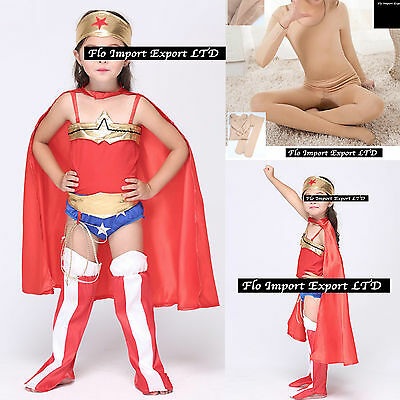 Wonder Woman Bambina Vestito Carnevale Travestimento Costume Dress WWCHIL01
