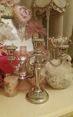 Vintage Silver plated antique ornate Candleabra