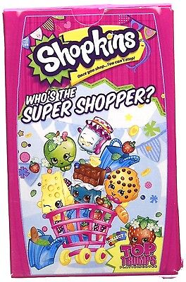 Shopkins Top Trumps Card Game Fun Educational Games Kids Child Gift Portable New