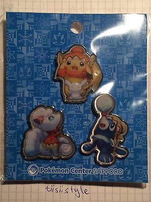 Pokemon Center Sapporo Japan Limited Pin Set OVP