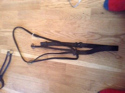 Brown English Leather Cob Size Running Martingale