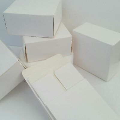 "6 x 8"" inch SQUARE WHITE CAKE BOXES Treat Sweets Festive Cookies SUGARCRAFT"