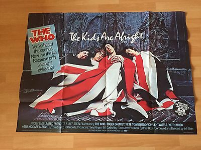 The Kids Are Alright Original Quad 1979  Daltrey  Townshend Moon The Who Rock &