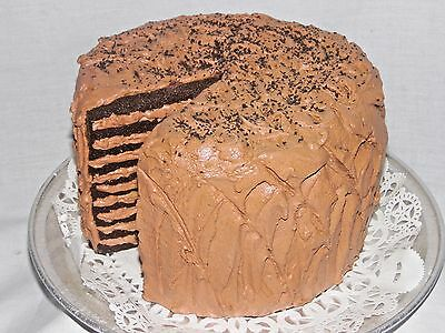 Fake Food / Artificial- Remember Grandma's Homemade Choco Tort Cake w/ Lg. slice