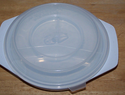 """Nordic Ware """"Three For One"""" Microwave Oven 3 Section Container Cookware"""