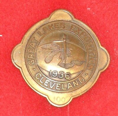 1936 Cleveland Great Lakes Exposition Badge