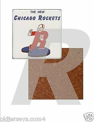 AAFC Chicago Rockets  Tile Drink Coaster with Cork Back