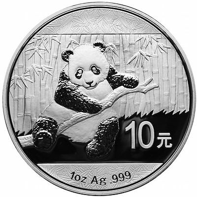 2014 1 oz Silver Chinese Panda Coins (In Capsule) 1oz.