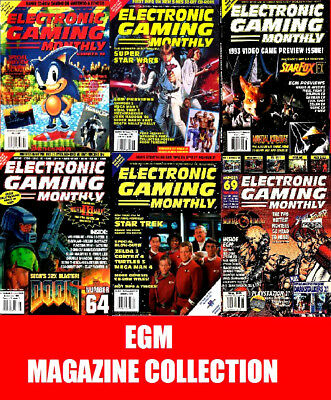 EGM Electronic Gaming Monthly USA Retro Magazine Collection on 7 DVD