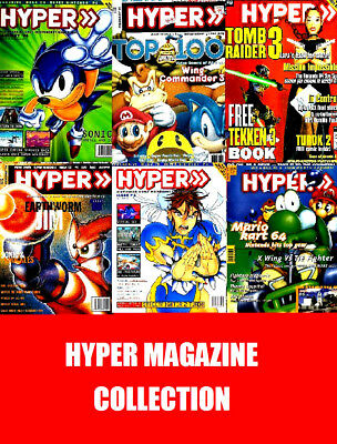 HYPER MAGAZINE MEGA COLLECTION Multiplatform 157 Issues on 10 DVD Console Gaming