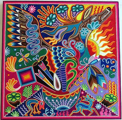 "23.5"" Mexican Huichol Yarn painting 60-049"