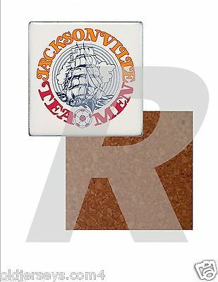 NASL Jacksonville Teamen Tile Drink Coaster with Cork Back