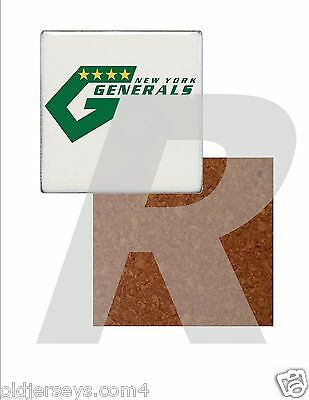 NASL New York Generals Tile Drink Coaster with Cork Back