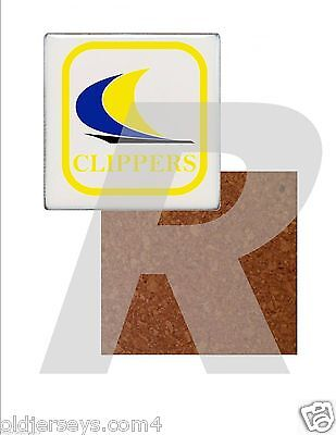 NASL Oakland Clippers Tile Drink Coaster with Cork Back