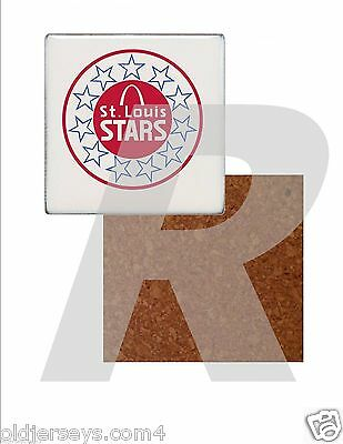 NASL St Louis Stars Tile Drink Coaster with Cork Back