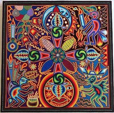 "23.5"" Mexican Huichol Yarn painting 60-050"