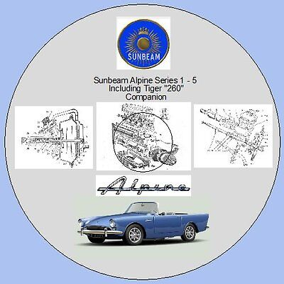 "Sunbeam Alpine Ser.1-5 Inc.Tiger ""260"" & Rapier Workshop Manual & Parts Lists"