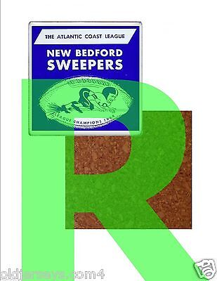 New Bedford Sweepers ACFL   Ceramic Tile Coaster with Cork Back