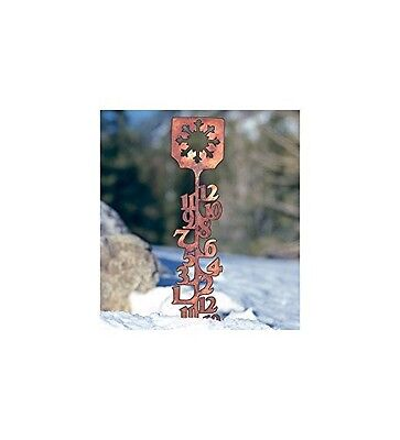 """Wind & Weather® 34""""H Handcrafted Copper-Plated Snow Gauge"""