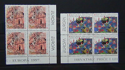 Croatia 1997 Europa Tales & Legends set in Blocks x 4 MNH
