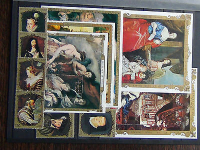 Chad 1971 Paintings M/S 1972 Paintings M/S 1972 Rubens M/S x 3 + others Fine U