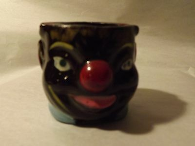 Ceramic Black Americana Sambo Head Ash Tray (Pipe Shaped) >JAPAN