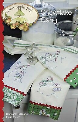 SNOWFLAKE GANG EMBROIDERY PATTERN From Crabapple Hill Studio NEW