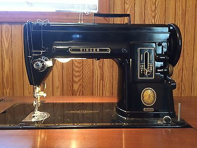 Antique Singer Sewing Machine with Cabinet Model 301